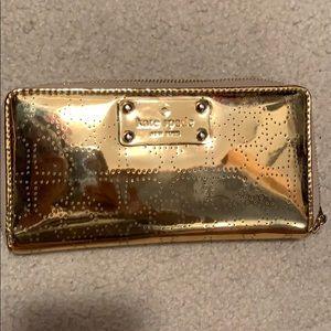Gold heart detail Kate Spade large wallet